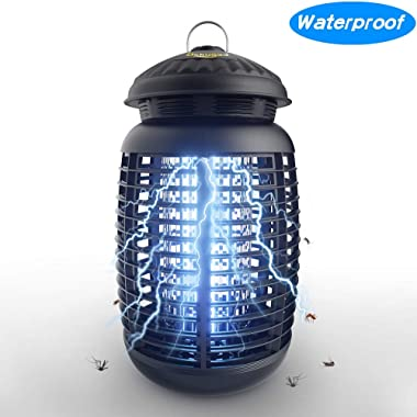 Dekugaa Bug Zapper Waterproof Outdoor/Indoor - Insects Killer - Fly Trap Outdoor Patio,4200V High Powered Electric Mosquito Killer,Mosquito Attractant Trap,UVA Mosquito Lamp Bulb