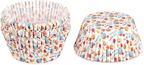 أغطية أكواب ورقية من vanpower مكونة من 100 قطعة من كعك الكعك الملفوف المطبوع عليها صورة كعك الكعك - كعك الخبز وديكور حفلات الزفاف لعيد الميلاد 68x50x32 مم/2.67x1.96x1.26in Type-14