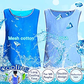 XAITE Cooling Vest Evaporative Cooling Clothes for Men Women Reversible No Refrigeration No Electricity Cold Pack Sport Ice Cool Vest Body Cooling for MS Sunstroke Protective Working Fishing
