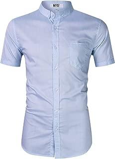 Mens Dress Shirts Regular Fit Long Sleeve Men Shirt Oxford Shirt