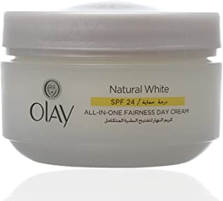 Olay Natural White Day Cream Spf 24 For Women, 50 Gm