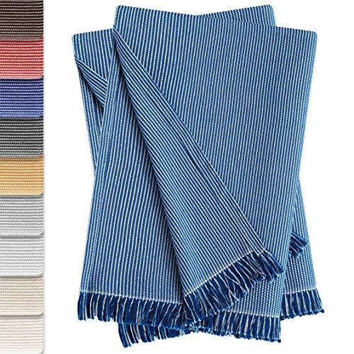 Vipalia Pack de 2 Colchas Multiusos Sofa. Plaids para Cama. Mantas Foulard Cubresofa Cubrecama. Comodas Practicas y Suaves. Calidad Diseño. Paul 230 x 260 cm Azul