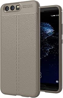 JDYS AYSMG For Huawei P10 Litchi Texture TPU Protective Back Cover Case (Black) (Color : Grey)