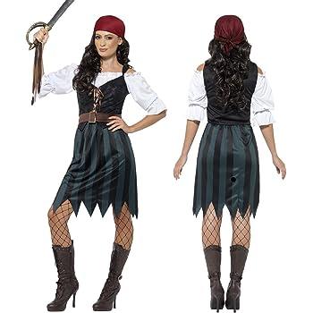 NET TOYS Disfraz Pirata Mujer Traje corsaria XS 32/34 Atuendo ...
