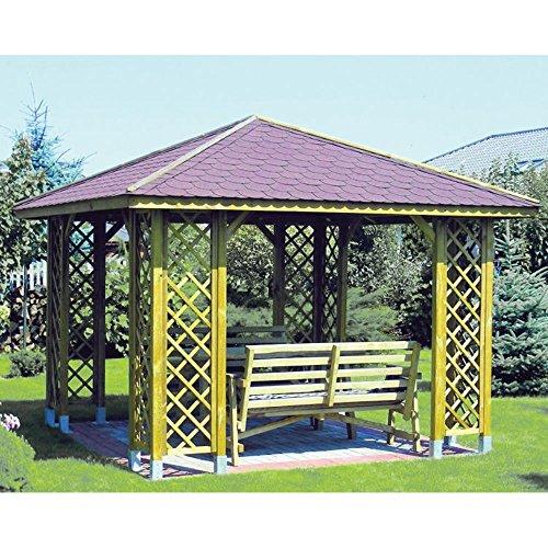 Gazebo Ania 300x300cm arredo esterno giardino tetto resistente 60071