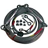 Freedom Pet Supply 250 Ft Aerial Dog Trolley Run Leash Harness Cable Overhead FDR-250...