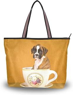 My Daily Damen Schultertasche, Boxer-Welpe in Cup Handtasche