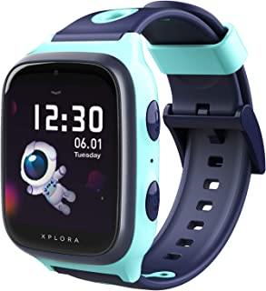 XPLORA 4 - Smartwatch For Children with Phone Calls, Messages, Kids School Mode, SOS Function, GPS Location, Camera & Pedometer (TURQUOISE)
