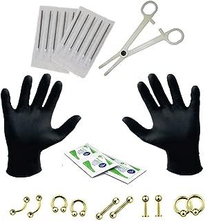 20PC Pro Piercing Kit BCR CBR Belly Labret Tragus Nipple Nose Lip 14G Steel Jewelry