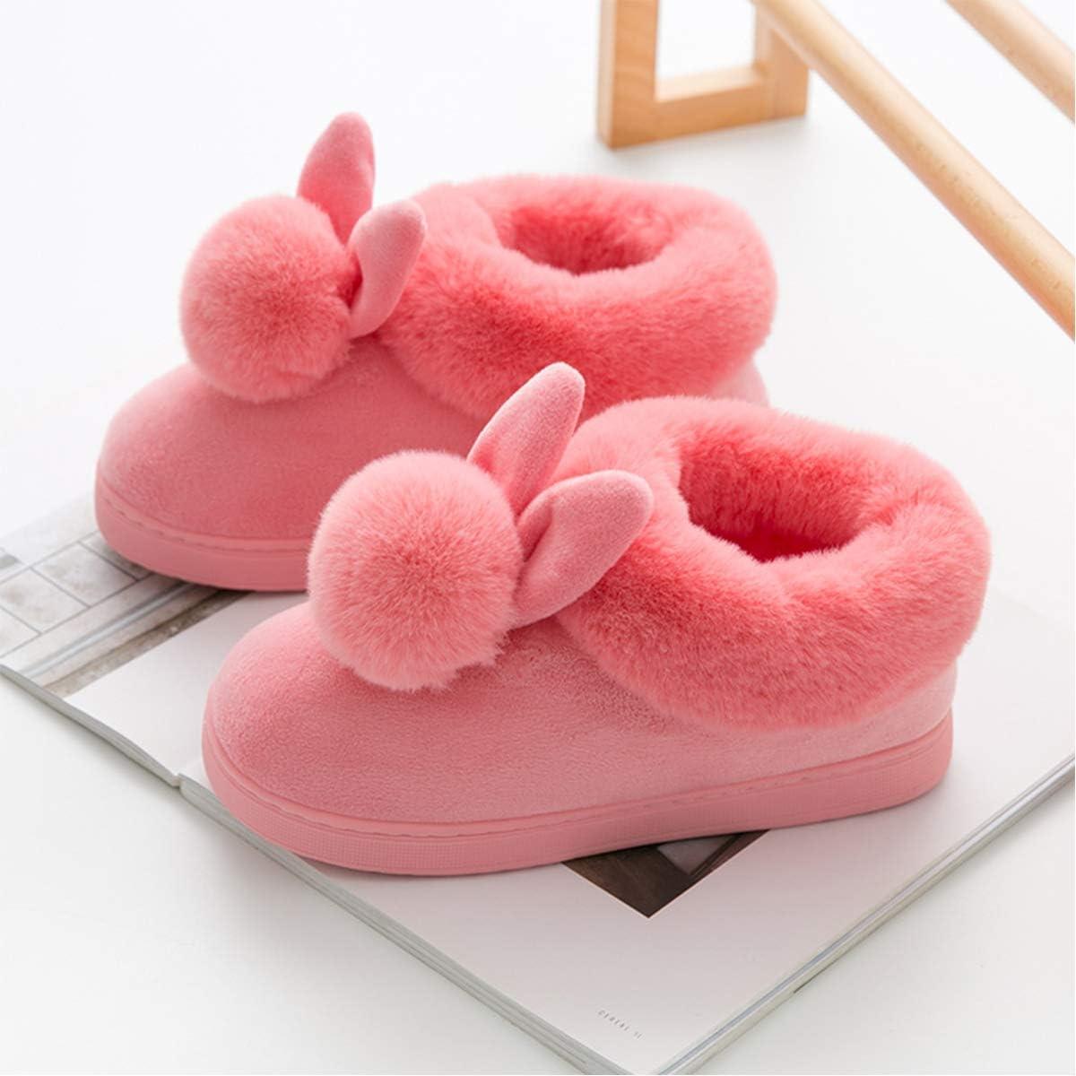 Evaliana Fluffy Faux Fur Cozy Slippers Winter Warm Indoor Shoes Fleece Slip-On Flats