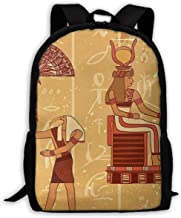 Travel Laptop Backpack for Women Men Casual Backpack Ancient Hieroglyph Historical Featured, Anti Theft Daypack Computer Bag, Water Resistant College School Bag Fits 15.8 Inch Notebook