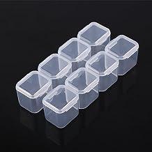 AMONIDA Pudełko na tabletki pudełko do przechowywania leków pudełko do przechowywania tabletek, pudełko na biżuterię plast...