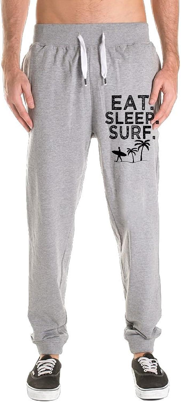 ZOJINYUA 01 Eat Sleep Surf Sweatpants Running Pants For Mens