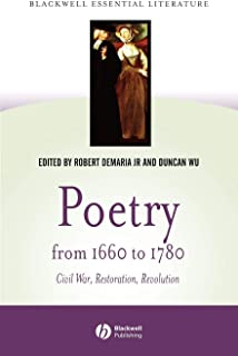 Poetry from 1660 to 1780: Civil War, Restoration, Revolution