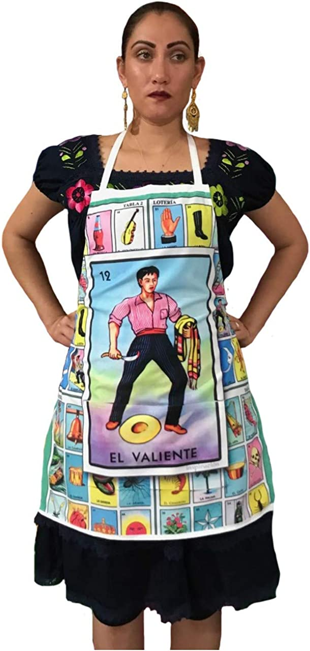 Mexican Unisex Apron Cash special price Lotería El Valiente 67% OFF of fixed price Coco The of Th Day Dead