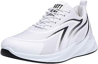 MMOOVV Herren Turnschuhe Mesh Casual Sportschuhe Lace-Up Atmungsaktive Soft Bottom Sneakers(EU38/EU42)
