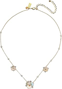 Disco Pansy Short Scatter Necklace