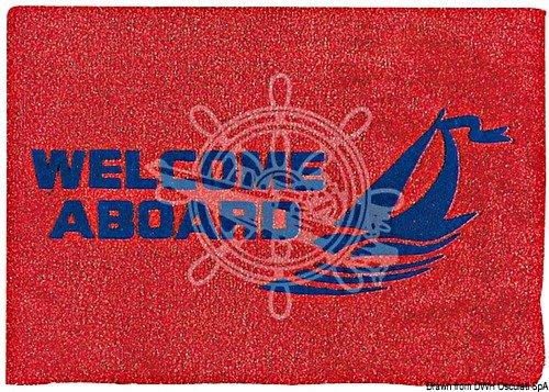 Osculati deurmat Welcome Aboard rood