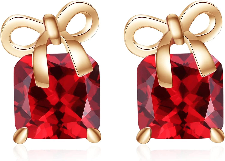 VONSSY Stud Earrings | Brilliant 5A Cubic Zirconia Earrings