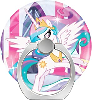 Cell Phone Ring Holder Finger Kickstand,360 Degree Rotation Stand Grip with Car Mount Compatible with All Smartphone - Princess Celestia My Little Pony