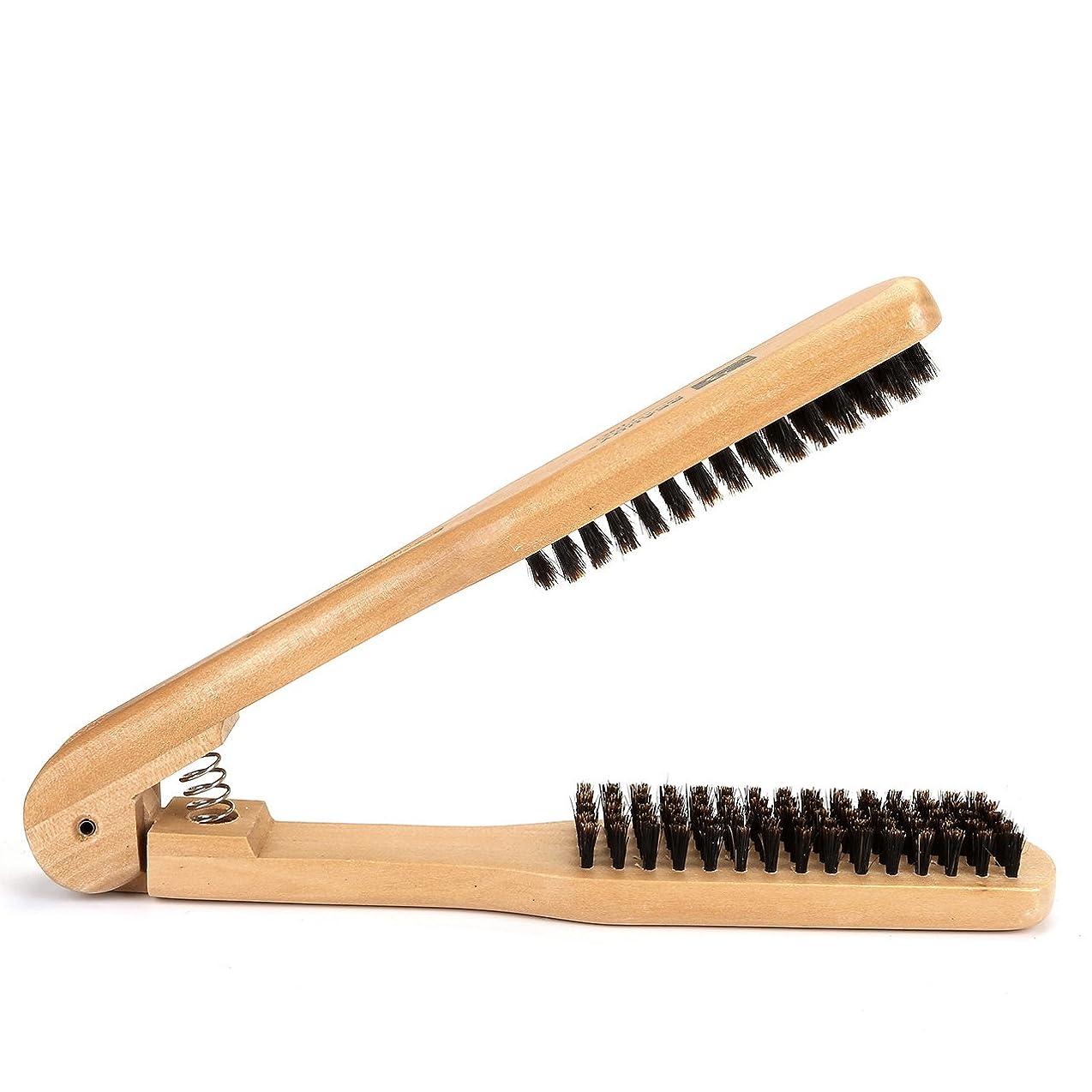 エチケット一緒に矢じりFaletony(JP) ツインストレート ツインストレート用ブラシ ストレート ツイン ヘアコーム V型 静電気防止 美髪道具 美容師 ナチュラルブラウン 木製