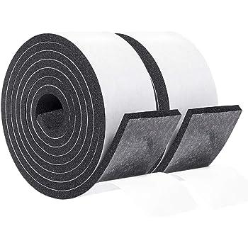 1.0 Inch Wide X 3//16Inch Thick , Black Foam Seal Strip Adhesive Weather Strip Foam Tape 32.8 feet Length High Density Foam Tape