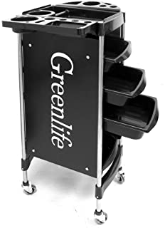 GreenLife® Salon SPA Hairdressing Trolley Salon Cart Beauty Tray Storage Cart Coloring with Hair Dryer Holder 5 Drawers Wheels