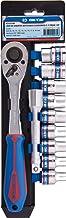 """Jogo de soquete sextavado e acessórios em suporte com 11 peças - 1/2"""" Kingtony - SC4301MR"""