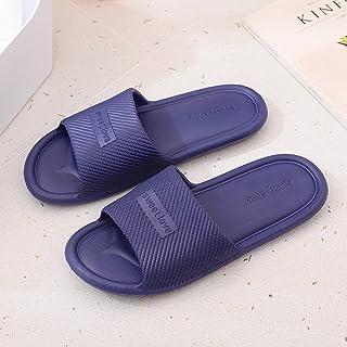 ZZLHHD Chanclas de Playa para niño niña,Household Slippers, Summer Non-Slip Slippers,-Blue_42-43,Zapatillas de Ducha Interior