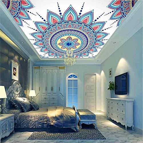 ZJfong behang muurschilderingen foto op maat HD Europese Plafond Zenith muurschilderingen Woonkamer Slaapkamer Decoratie 140x70cm
