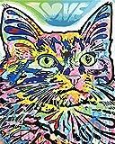Pintar Al Óleo Kit Para Adultos Y Niños Y Principiantes Pintura Por Números Kits Gatito Gato Para La Decoración De La Pared De La Casa Con Pinceles Y Pinturas 16 X 20 Pulgadas Con Marco