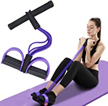 FateFan Multifunction Tension Rope, 6-Tube Elastic Yoga Pedal Puller Resistance Band, Natural Latex Tension Rope Fitness E...