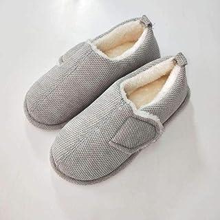 B/H Chaussons Patients diabétiques,Chaussures de Confinement Ajustables Automne et Hiver, Chaussures de Marche pour Les Pe...