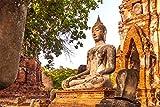 Buddha Statue Tempel Religion XXL Wandbild Kunstdruck Foto