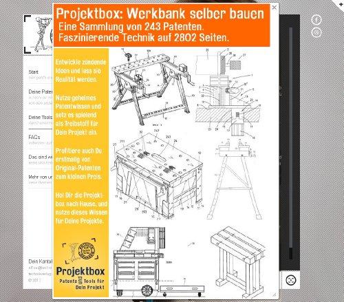 Werkbank selber bauen: Deine Projektbox inkl. 243 Original-Patenten bringt Dich mit Spaß ans Ziel!