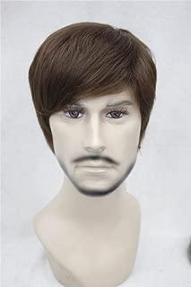 Kalyss Men's Short Light Brown Hair wigs
