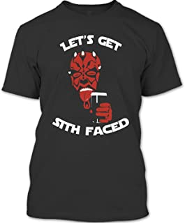 NEBNECK Let's Get Sith Faced T Shirt, Darth Maul T Shirt