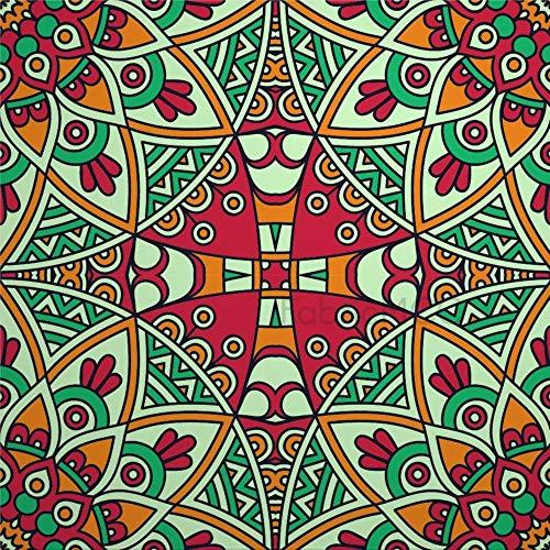 daoyiqi Juego de adhesivos decorativos para azulejos, diseño psicodélico, diseño de simetría de artes visuales, 10 x 10 cm, vinilo para decoración del hogar