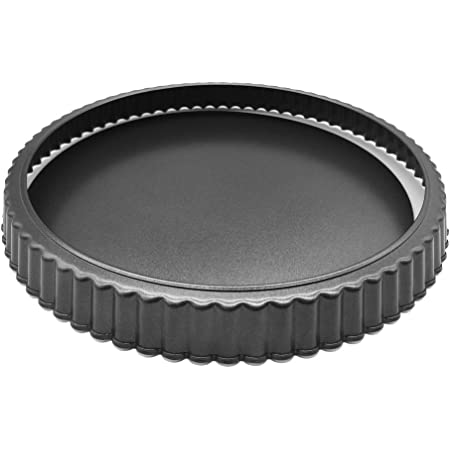"""HOMOW Nonstick Heavy Duty Tart Pan With Removable Bottom, Removable Loose Bottom Quiche Pans, Pie Pan (10"""" X 1"""")"""
