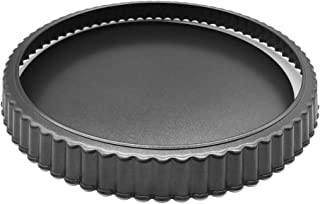 HOMOW Nonstick Heavy Duty Tart Pan With Removable Bottom, Removable Loose Bottom Quiche Pans, Pie Pan (10