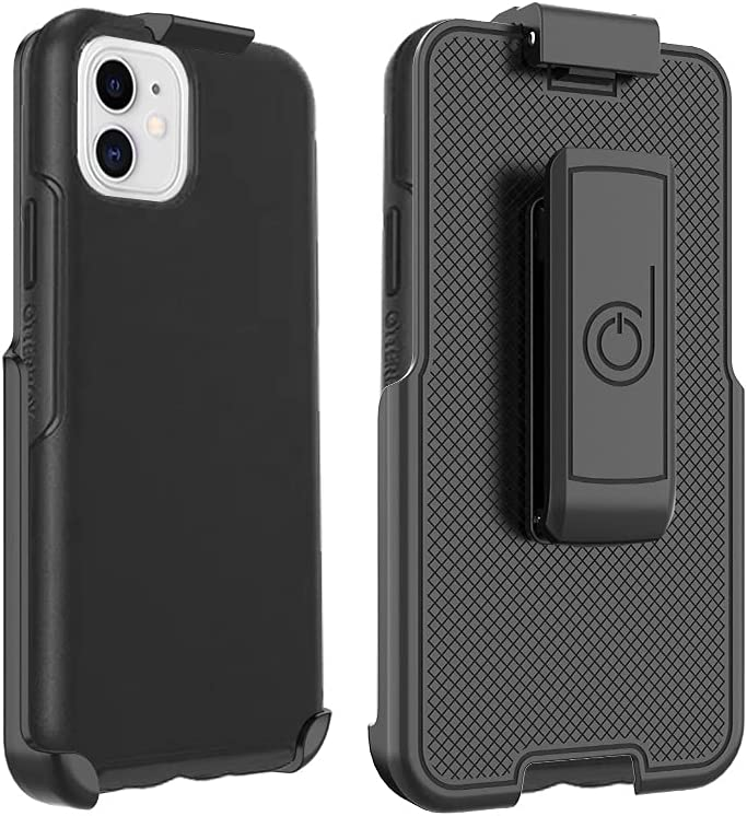 BELTRON Belt Clip Compatible with Symmetry Series Case for iPhone 12 Mini (Case NOT Included, Belt Clip Holster ONLY) Features: Secure Fit, Quick Release Latch & Built-in Kickstand