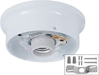 B&P Lamp 4 Inch Fitter Wired Flush Mount Ceiling Fixture (White)