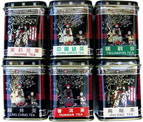 Conjunto seis 17g Muestra Caddies auténtico té chino
