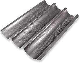 Schramm® Baguette-Blech mit Antihaftbeschichtung für 3 Baguettes 38,5 x 28,5 cm Baguetteform Baguette Backblech Blech Brotbackform