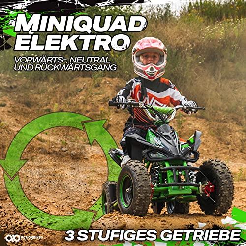 Actionbikes Motors Kinder Elektro Miniquad ATV Racer schwarz/blau - 2