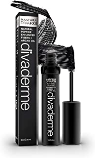 Divaderme Mascara Diva Fxii - Black By Divaderme for Women - Black Mascara Lengthens and Volumizes Without Clumps Volume Mascara for Longer Fuller Thicker Smudge Proof Lashes