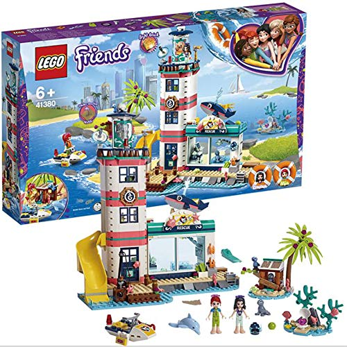 WXX Lego 602 Faro Centro de Rescate Montado Regalos de cumpleaños de Navidad Juguetes educativos del Bloque Hueco de los niños Modelo