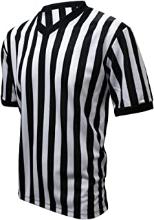 Winners Sportswear Official V-Neck Striped Referee Shirt Jersey