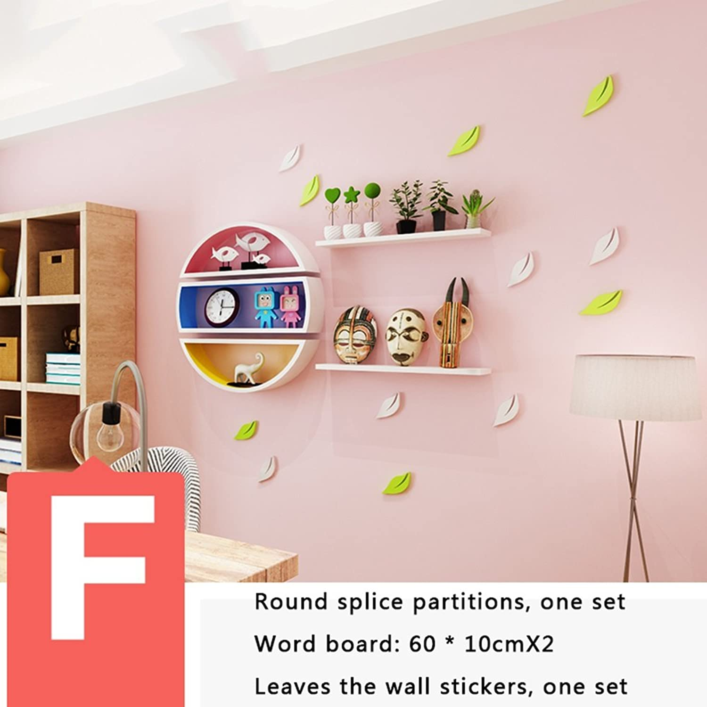 CXM-Decorative frame ALUK- Wohnzimmer TV Wandverkleidung, runde Wandgestell, Büchergestell, Wandtrennwnde, Wand (Stil   F)
