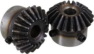 CNBTR 45 Steel 1.5 Modulus Silver 8mm Hole Diameter Tapered Bevel Gear Wheel 20 Teeth Pack of 2